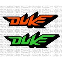 KTM duke logo stickers for bikes and helmets
