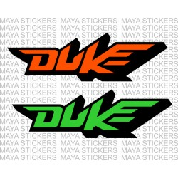 KTM duke logo stickers for bikes and helmets