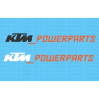 KTM powerparts logo stickers in dual color ( Pair of 2 stickers)