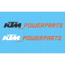 KTM powerparts logo stickers in dual color