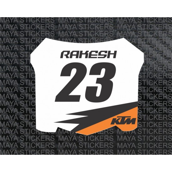 Ktm racing style name and number custom sticker for ktm rc200 ktm rc390