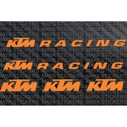 KTM racing wheel rim stickers ( set of 4 )