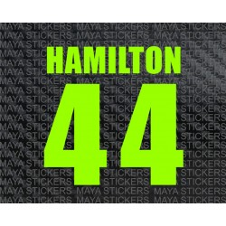 Lewis Hamilton 44 racing number stickers