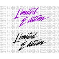 Limited edition text logo decal stickers ( Pair of 2 )