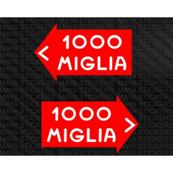 Mille Miglia decal stickers  for cars, bikes, helmets and others