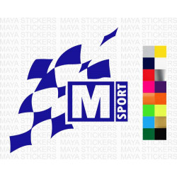 M-Sport logo stickers for cars, laptops and others