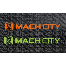 Mach City bicycles logo stickers