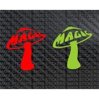 Magic mushroom decal stickers