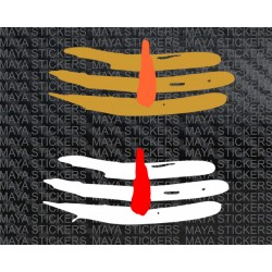 Mahadev tripund Tilak Shiva stickers for cars, biks, laptops