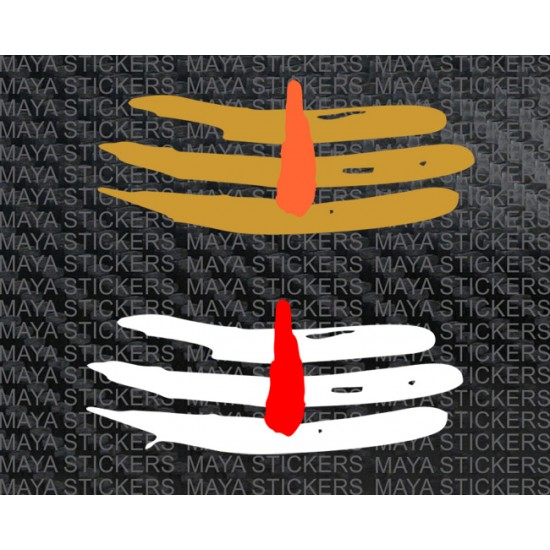 Mahadev tilak dual color sticker for cars, bikes, laptops, mobile