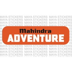 Mahindra adventure logo stickers for Thar, Scorpio, Bolero, XUV