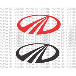 Mahindra stylized M logo decal stickers for cars, bikes, helmets