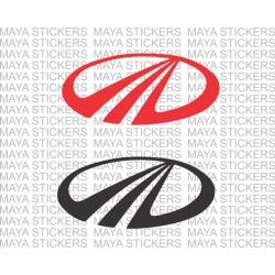 Mahindra stylized M logo decal stickers