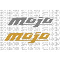 Mahindra mojo logo stickers for bikes and helmets ( Pair of 2 )