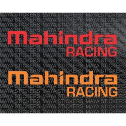 Mahindra Racing logo stickers for Mahindra cars and bikes. (pair of 2 stickers)
