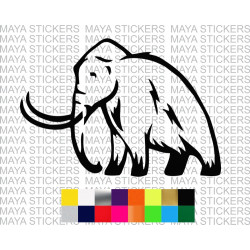 Mammoth elephant decal sticker for cars, bikes, laptops