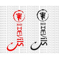 Manchester United Red devils unique design decal sticker