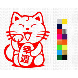 Maneki Neko Japanese lucky cat decal stickers for cars, bikes, laptops and others