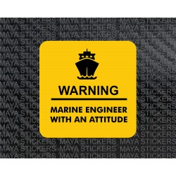 Marine engineer with an attitude sticker