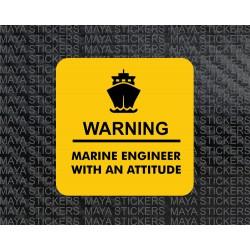 Marine engineer with an attitude sticker