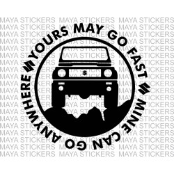 Maruti suzuki gypsy offroad decal sticker