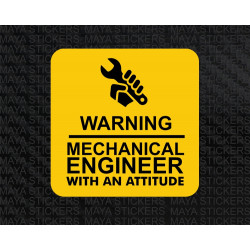 Mechanical engineer with an attitude decal sticker