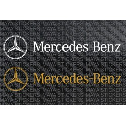 Mercedes Benz logo decal stickers ( pair of 2 )