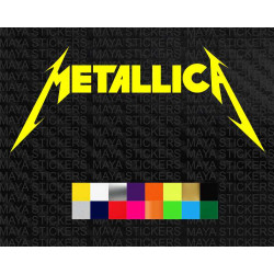 Metallica logo sticker for cars, bikes, laptops, wall and others