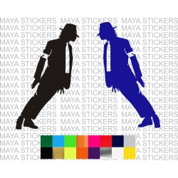 Michael jackson Leaning decal stickers. ( Pair of 2 flipped sticker )