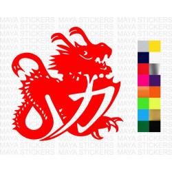 Michael Schumacher Dragon logo sticker for cars, bikes, laptops and helmets