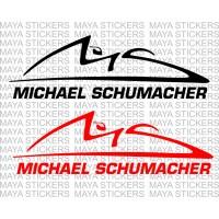 Michael Schumacher logo decal sticker for cars, bikes, laptops