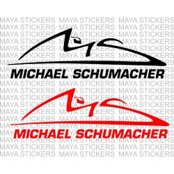 Michael Schumacher logo decal sticker for cars, bikes, laptops