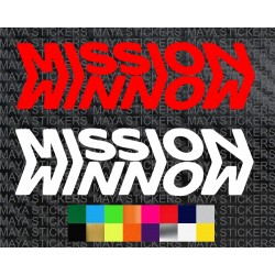 Mission winnow logo stickers for cars, bikes, laptops