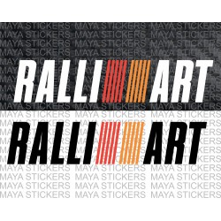 Mitsubishi Ralliart racing logo decal stickers