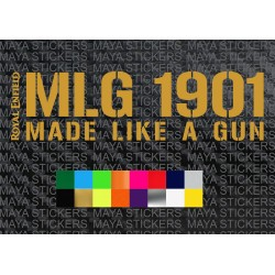 Royal Enfield MLG 1901 Made like a gun Sticker for tank and mudguard