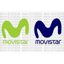 Movistar logo stickers in custom colors and sizes
