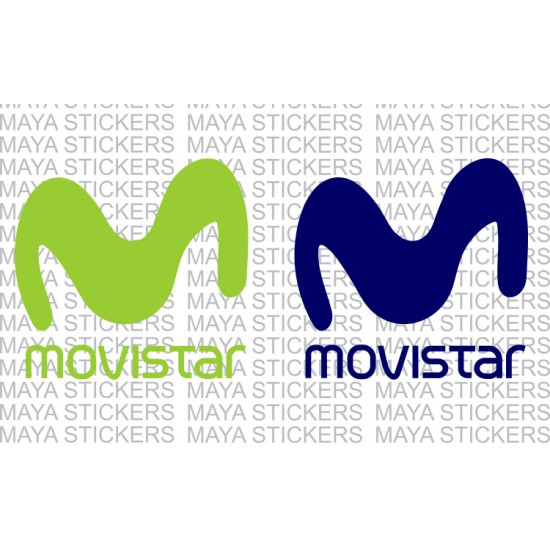 Movistar logo decal stickers for bikes and helmets