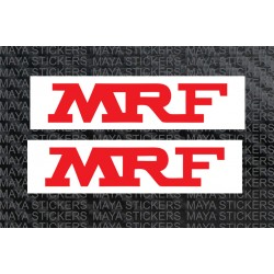 MRF logo sticker with white background. ( 2 Stickers)