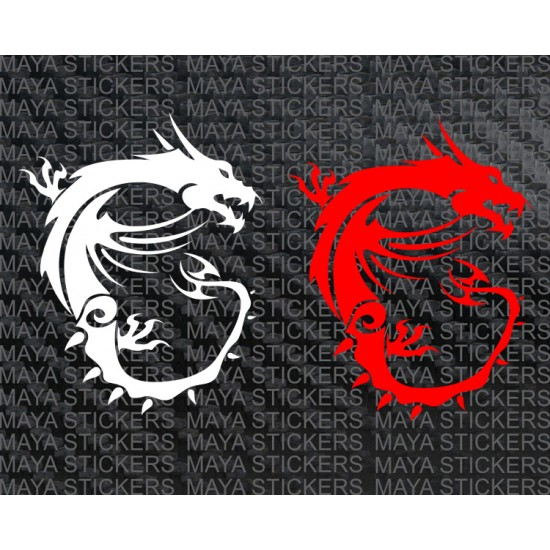 MSi dragon logo stickers for laptops, desktops and bikes