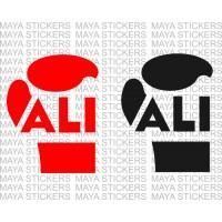 Muhammad Ali boxer glove logo stickers