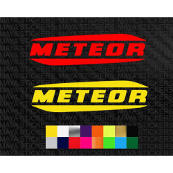 Royal Enfield Meteor logo sticker for motorcycles and helmets