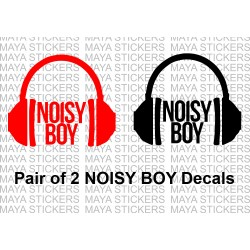Noisy boy headphone decal sticker