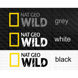 NAT GEO WILD logo stickers for cars, bikes, laptops and others