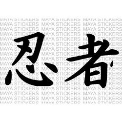 Ninja in Japanese Kanji Character for Kawasaki Ninja, laptops, cars, bikes