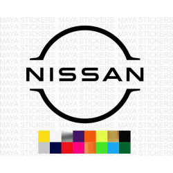 Nissan new 2020 logo sticker in custom colors and sizes