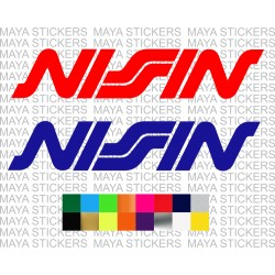 Nissin logo stickers for cars and motorcycles