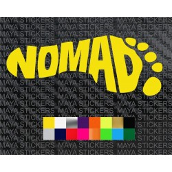 Nomad creative footprint design sticker for cars, bikes, laptops