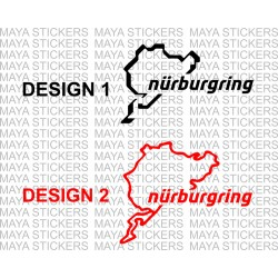 Nurburgring rally track logo car sticker