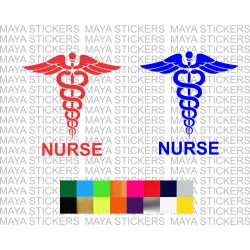 Nurse logo decal sticker for cars, bikes, scooter