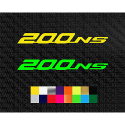 Pulsar NS200 logo decal sticker for bikes and helmets
